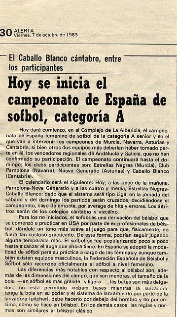 1983.10.07 Campeonato España A sófbol