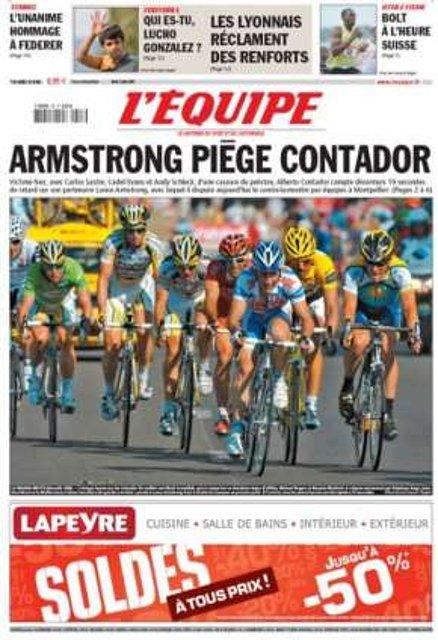 portada L'Equipe 07/07/2009
