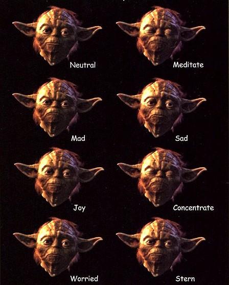 Caras de yoda