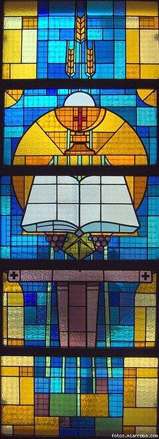 Vidriera Eucaristia