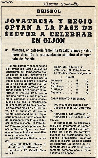 1980.04.20 Liga cadete
