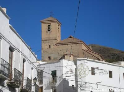 Iglesia Gérgal desde Calle Sebastián Pérez