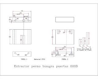 EXTRACTOR PERNO BISAGRA PUERTA 600D-Model