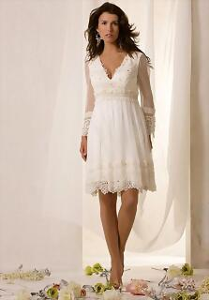 Estilo de Pelo Largo Volumen para vestidos de Novia Cortos