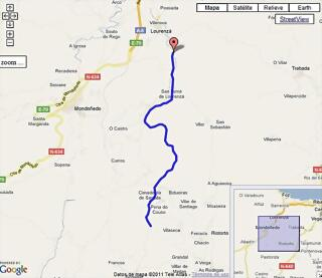 Pico Becerreira por Lorenzá mapa