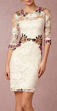 Peinados con Vestidos de novia cortos Recogido Elegante