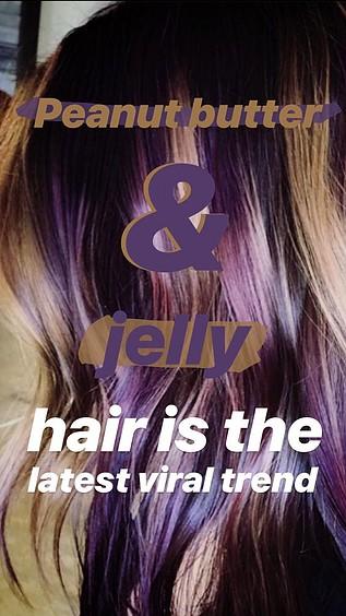 Tendencia y Estilo  Peanut butter & jelly, un pelo de Mermelada con Cacahuete  de Moda