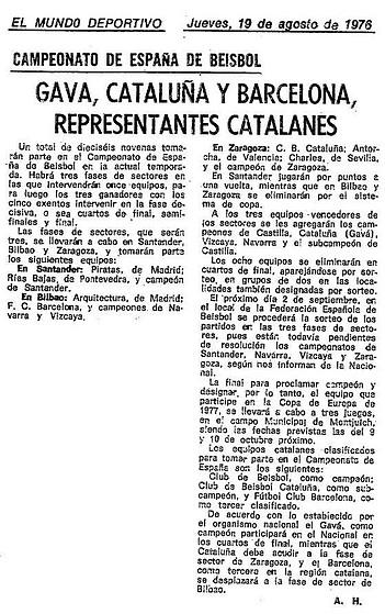 1976.08.19 Cpto. España sénior