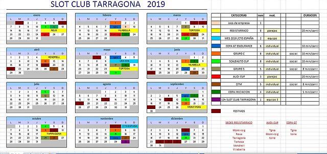 Calendari sct 2019