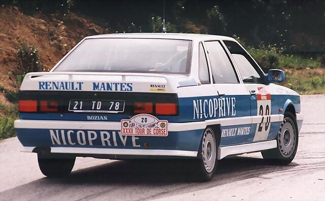 Renault 21 Turbo Gr N 1988 Tour de Corse -- AZUL NICOPRIVE 00t