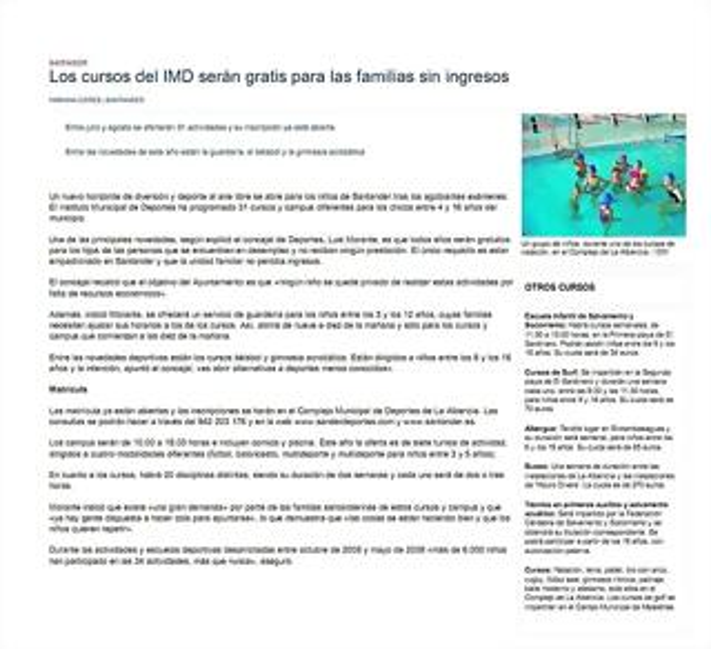 2009.06.05 Actividades verano IMD 2009