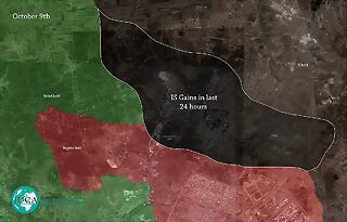 Map Syria Aleppo Daesh offensive 9Oct15