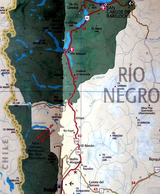 Mapa Lago Escondido