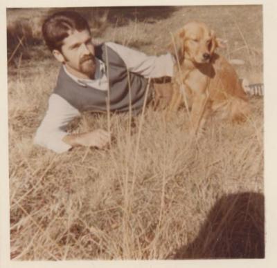 Mariano con su preciosa perra, hace ya unos años