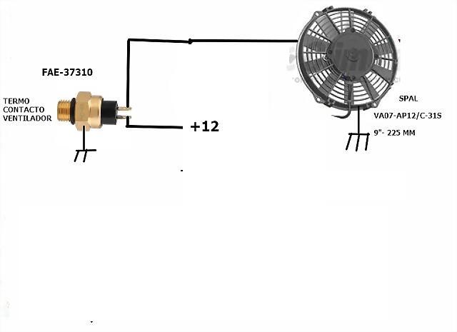 Electro ventilador de una velocidad Seat 600