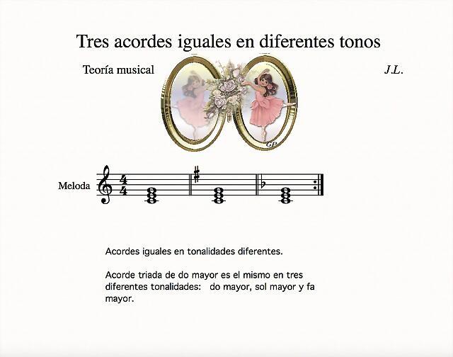 tres acordes iguales