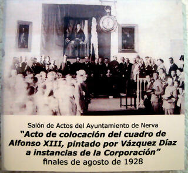 inauguración. cuadro, Alfonso XIII