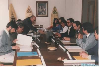 Conferencia de Prensa Campeonato Int. de Surf, año 1991, en Rancagua.