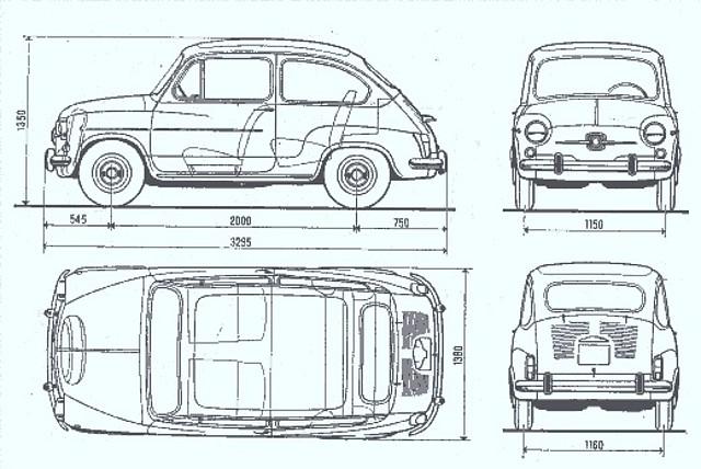 Seat 600 medidas de coches clasicos nuestro rinc n - Dimensiones seat ...