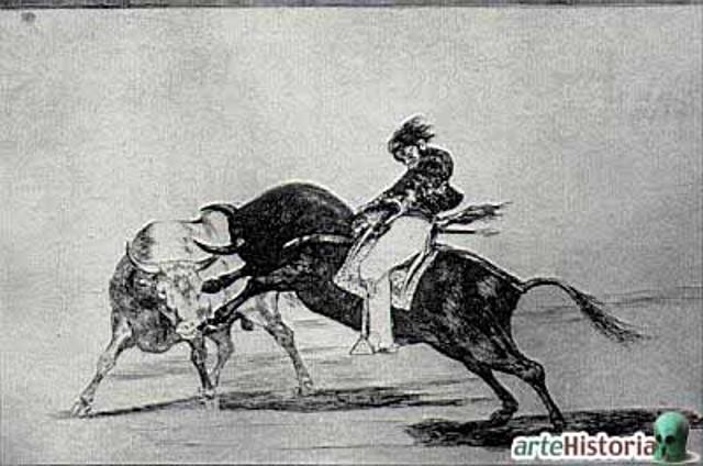 carga de toro montado