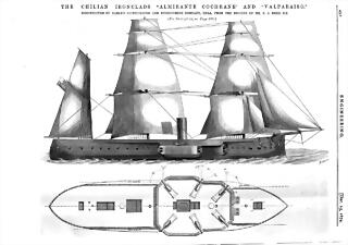 Chilean Ironclads Dwg (Engineering 1874)