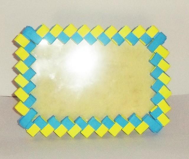Marco de fotos 9x13 azul y amarillo