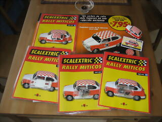 Scalextric rally miticos n41-42-43-44 de Altaya. Seat 600 E rally Costa Brava 1972. SCALEXTRIC.
