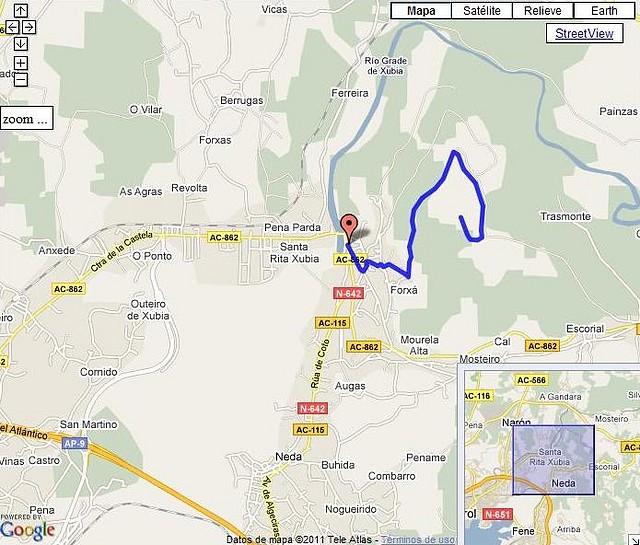 Monte Ancos por Xubia mapa