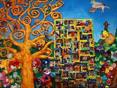 Mural realizado por niños de 4 años